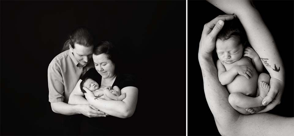 Uxbridge Family Photographer with new baby girl